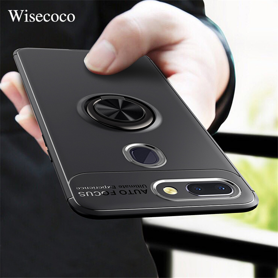Case for Xiaomi Mi 8 Pro Se F1 6 6X 5X A1 A2 Lite Max 3 Mix 2 2S Car Holder Stand Magnetic Ring Redmi S2 4 4x 6a Note 5 5A 6 Pro image