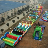80 x 10m Runway Inflatable Challenging Course Competitive Obstacle