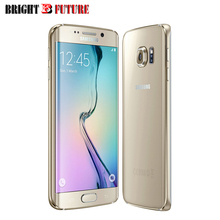 Unlocked original Samsung Galaxy s6 edge G925T ,4G LTE Unlocked Android 3GB/32GB cellphone free case multi-language