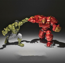 2piece/lot 7-8cm civil wars the avengers Thor Iron man the Hulk Collection figure Toy christmas decoration toys