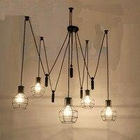 5 голов арт деко паук большой подвесной светильник классический декоративный Лофт светильники кантри E27 для кабинета, бара, кафе, для офиса и