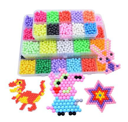 Supplementary Pack 3D Aquabeads Magic Water Beads Aqua Beads Children Puzzles DIY Water Spray hama perler beads Hand Making