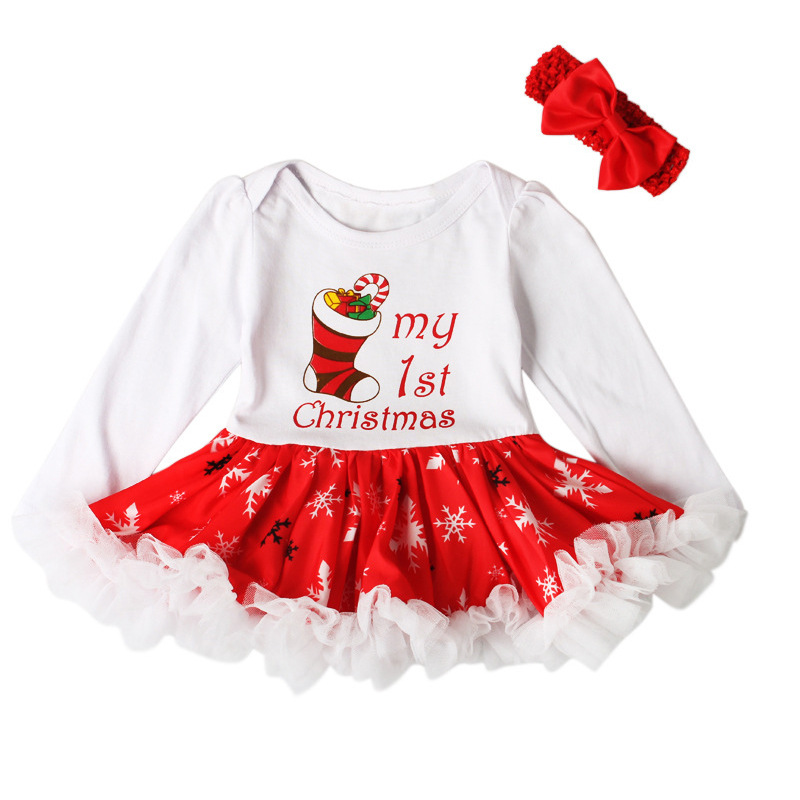 Wholesale Ins New Girls Summer Tutu Dress + Headbands X-mas Christmas Set Children Outfit Kid Clothing Baby Clothes 2015 elegant baby girls christmas reindeer top tutu tulle skirt pants 2 pc outfit set children christmas clothing