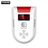 Wireless Digital LED Display Combustible Gas Detector For Home Alarm System Personal Safe Flash Gas Sensor