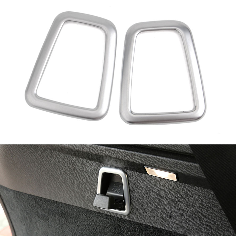 BBQ@FUKA 1pc ABS Chrome Car Rear Cargo Trunk Hook Cover Trims For <font><b>VOLVO</b></font> <font><b>XC90</b></font> 2015 <font><b>2016</b></font> 2017 Car Exterior <font><b>Accessories</b></font> Styling image