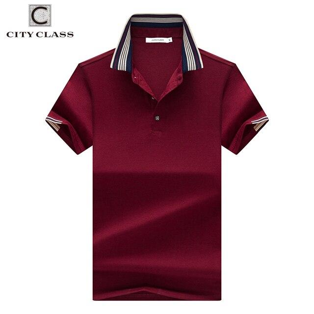 Город КЛАСС Новый Мужская рубашка поло три варианта цвета короткий рукав дышащая Бизнес модные Повседневное мужской рубашки поло 17189