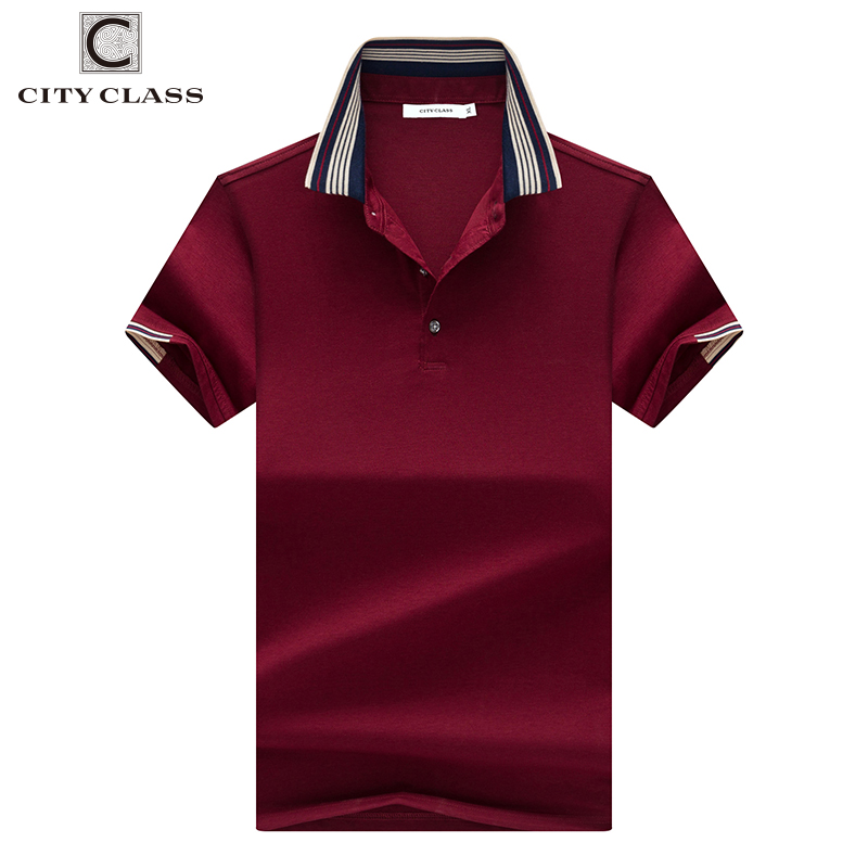 CITY CLASS New Mens   Polo   Shirt Three color options Short Sleeve breathable Business Fashion Casual Male   polo   shirt 17189