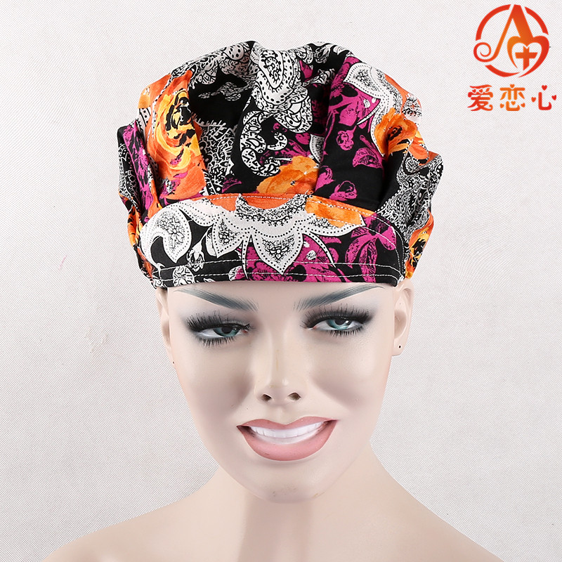 NEW Ai Lianxin Surgical caps doctors and nurses cap,Bouffant caps for long hair nurses doctors ai lianxin surgical bouffant caps one size adjustable animal forest alx 192