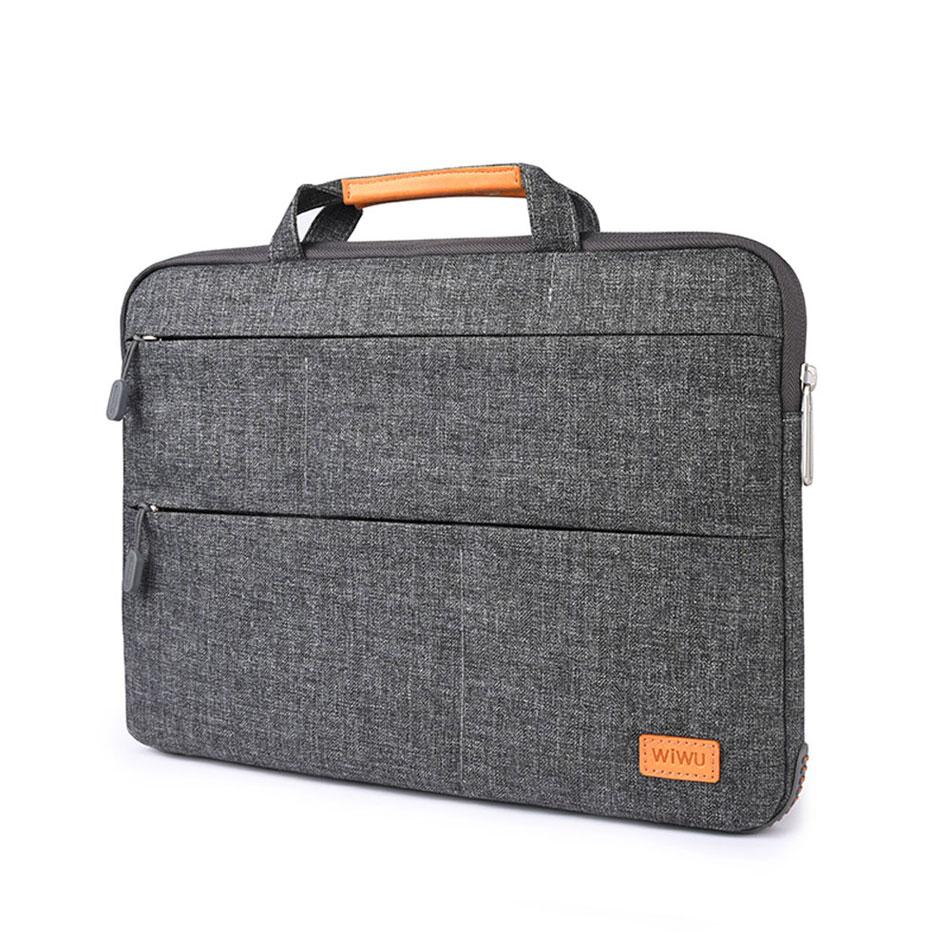 WIWU Laptop Bag Case Multi-Pockets Waterproof Nylon Notebook Bag for MacBook Pro 13 15 Air 13 Portable Laptop Case with Stand wiwu waterproof laptop bag case for macbook pro 13 15 air bag for xiaomi notebook air 13 shockproof nylon laptop sleeve 14 15 6