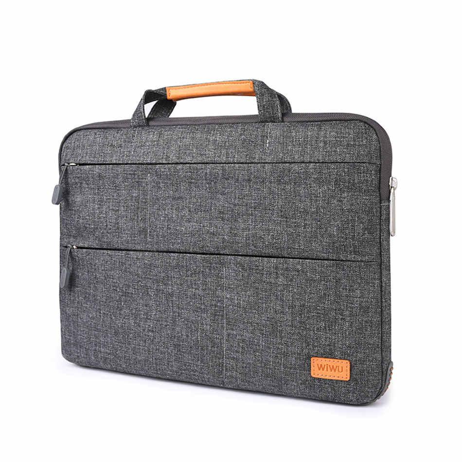 Сумка для ноутбука WIWU с несколькими карманами, водонепроницаемая нейлоновая сумка для ноутбука MacBook Pro 13 15 Air 13, портативный чехол для ноутбука с подставкой