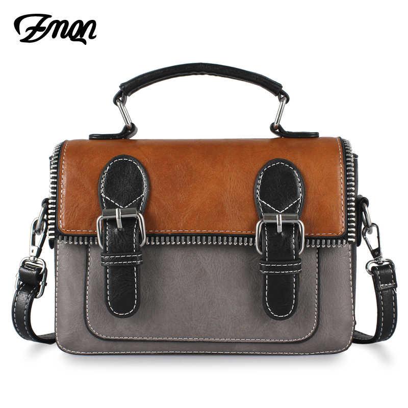 ffb701fbebb7 ZMQN Cheap Women Bags For Women 2018 Vintage Leather Crossbody Bag For Women  Messenger Bag Small