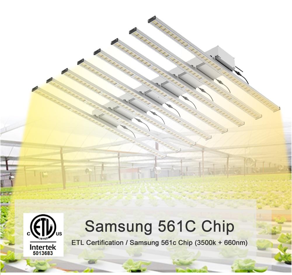 640W Spettro Completo led coltiva la luce bar, Samsung 3000K 660nm Rosso coltivazione di piante, serra Sistema idroponico coltiva la Lampada