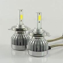 Free shipping 2 PCS 60W 6000Lm LED Car Headlight Conversion Kit H4 High low H/L Hi Lo bulb 6000k white Driving front Fog light
