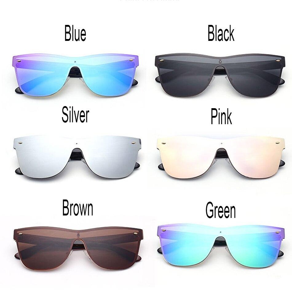 Feidu moda rimless Gafas de sol mujeres marca diseñador espejo plano ...