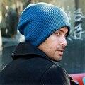 Men Skullies Hat Bonnet Winter Beanie Knitted Wool Hat Plus Velvet Cap Thicker Mask Fringe Ski Sports Beanies Hats For Men A1515