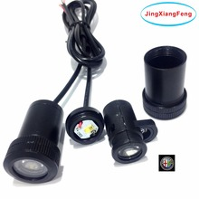 JingXiangFeng case for Alfa Romeo 12v 2pcs Universal Led Car Door Projector Light Door Welcome Light