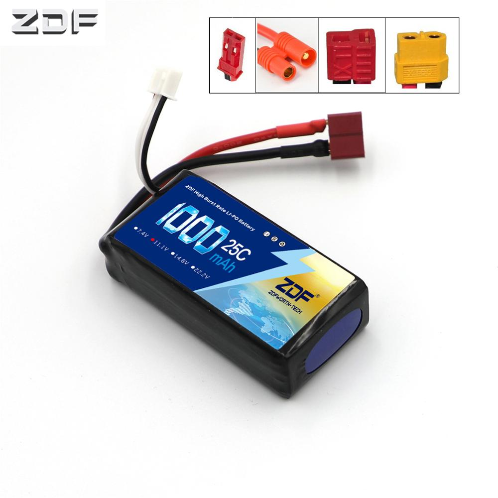ZDF <font><b>2S</b></font> 3S 4S 7.4 11.1V 14.8v <font><b>1000mAh</b></font> 25C Li-po battery for Walkera Master CP RC Helicopter Spare Parts HM-Master CP-Z-27 image