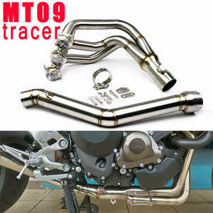 Full Exhaust System Motorcycle MT09 FZ09 Tracer Link Connect Tube For Yamaha MT 09 MT-09 FZ 09 FZ-09 2014 2015 2016 2017 2018