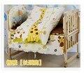 Promoção! 10 PCS urso berço jogo de cama colcha uma peças de cama em torno de pára choques colchão ( bumper + colchão + travesseiro + edredon )