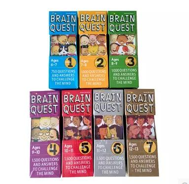 Brain Quest English version of the intellectual development card books questions and answers card smart start
