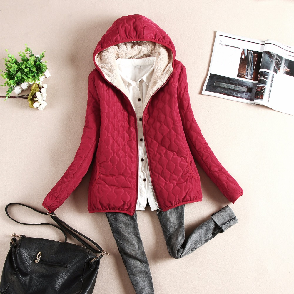 2018 Fashion women winter hooded coat long coats thin slim Autumn   basic     jacket   female outerwear short girls female   jacket