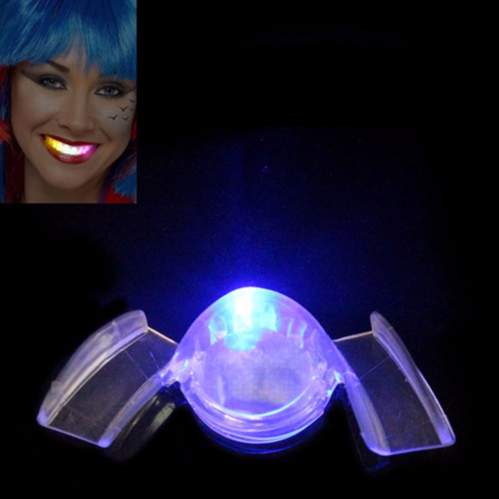 Flashing Flash Brace Mouth Guard Piece Festive Party Favor Supplies Glow Tooth Funny LED Light Kids Children Toys 1PC Novelty in Glow Party Supplies from Home Garden
