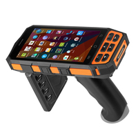 5 Rugged 4G WIFI Mobile Data Collector Android 7.0 Handheld PDA Terminal 1D 2D Barcode Scanner with Pistol Grip SIM PSAM card