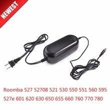 22.5V Adaptador de Alimentação Carregador para irobot Roomba 1.25A 527e de 527 52708 521 530 550 551 560 595 601 620 630 650 655 660 760 770 780