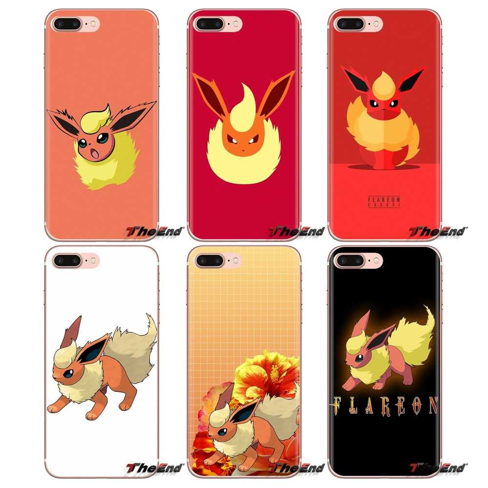 Do Samsung Galaxy J1 J2 J3 J4 J5 J6 J7 J8 Plus 2018 Prime 2015 2016 2017 miękkie etui z TPU na telefon cute cartoon anime Pokemon Flareon