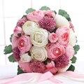 Accesorio nupcial de la boda del Peony ramos hermoso ramo de la boda de dama de honor nupcial ramos de flores artificiales