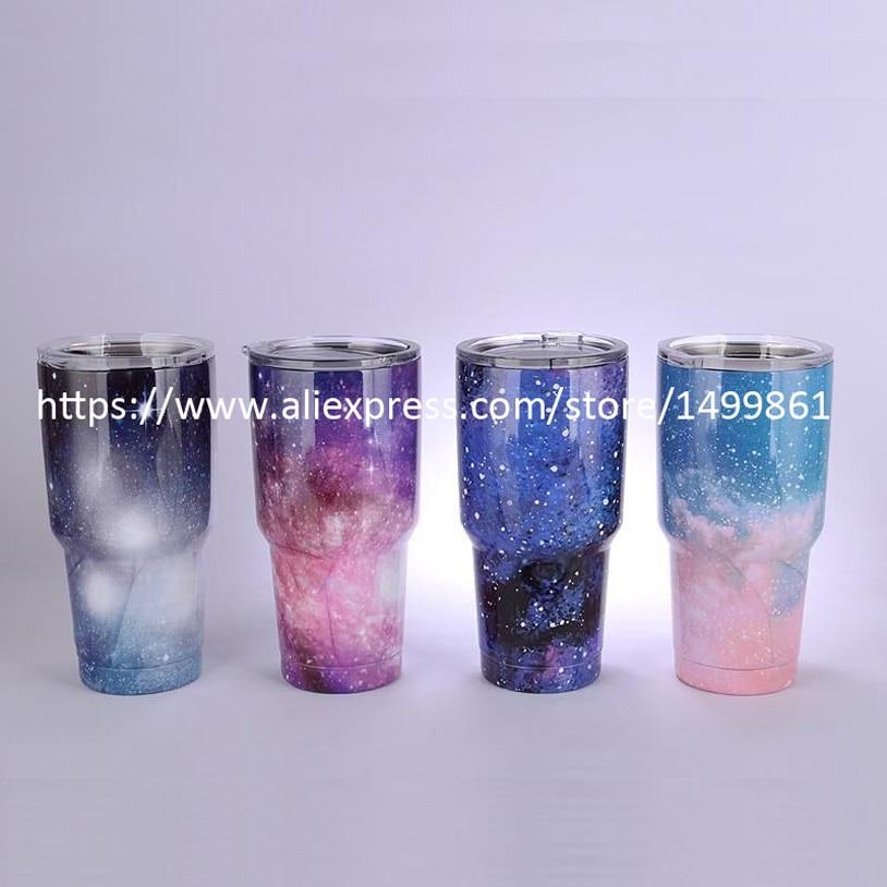 30oz Starry Sky Stainless Steel Mug Rambler Tumbler Cooler Mug Vacuum Insulated Vehicle Coffee Beer Mug
