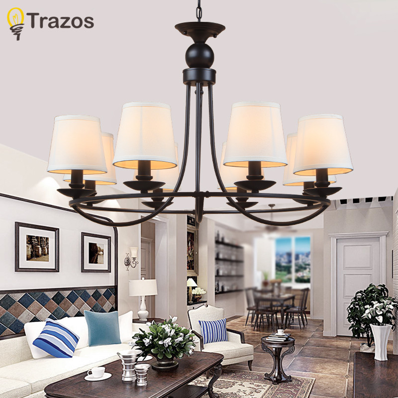 Modern Retro Chandelier for Living room Bedroom Hanging Antique Iron Chandelier American Style Free Shipping european style luxury retro chandelier living room mediterranean style rural glass chandelier free shipping