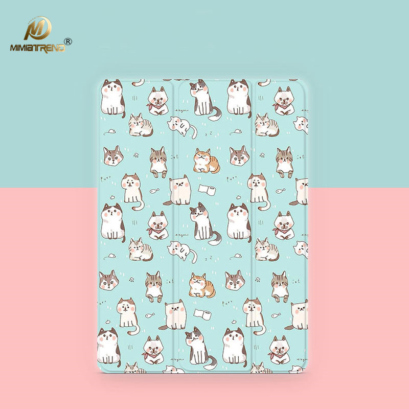 Mimiatrend Cutee Cats PU Case for 2017 New iPad Pro 9.7 10.5 Air Air2 Mini 1 2 3 4 Tablet Case Shell + Film + Phone Case Gift mimiatrend tige for apple ipad air 1 2 air2 flip pu leather case smart cover for new ipad 9 7 2017 tablet case for ipad pro 9 7