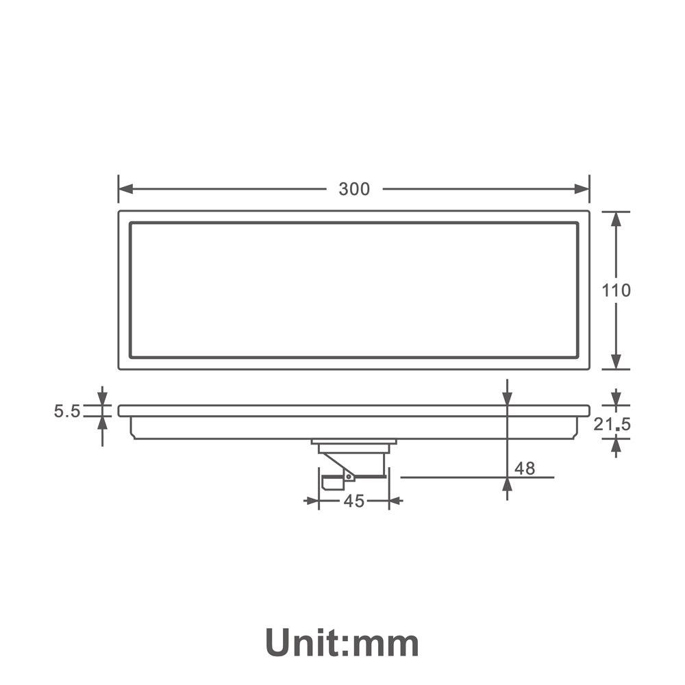 HIDEEP 30X11 Cm Anti-odeur noir-peinture acier inoxydable linéaire Drain de sol salle de bain carrelage insérer douche plancher Drain usine directe - 2