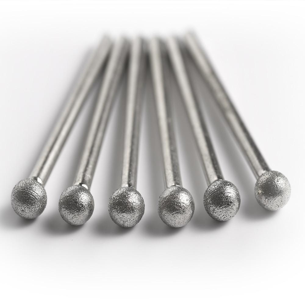 Shank 3MM  Fine Grain Ball Shape Diamond Grinding Burr Abrasive Needle Polishing Bits For Die Grinder/dremel/rotary Tools