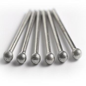 цена на shank 3MM  Fine grain Ball shape Diamond grinding burr abrasive needle polishing bits for die grinder/dremel/rotary tools