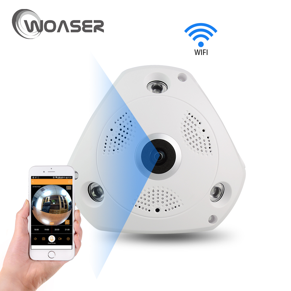 1.3MP FishEye IP Camera 360 degree HD View CCTV Camera 960P 1.44MM Lens Network Home Security WiFi Monitor Camera Panoramic wifi ip camera 360 degree full fisheye view 720p wifi network home security wireless camera