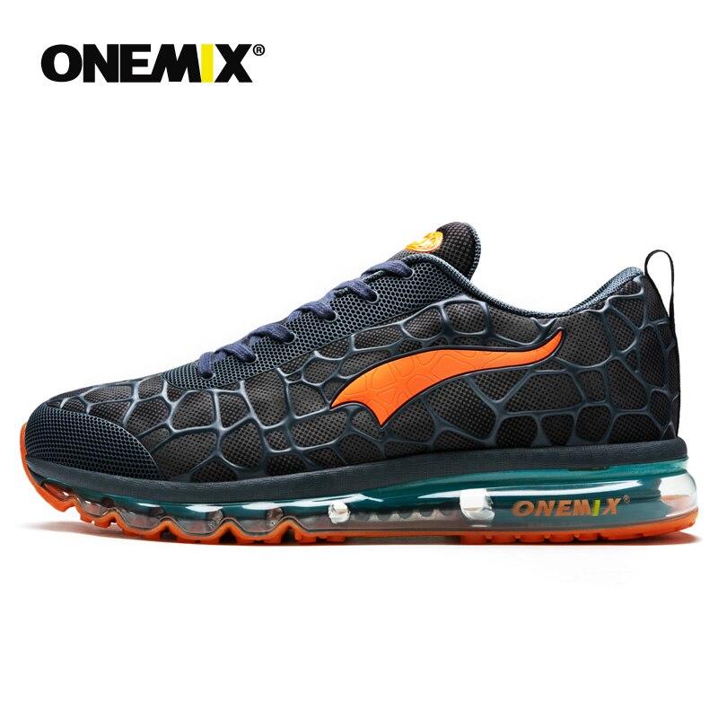 Onemix nouveaux hommes chaussures de course respirant en plein air athlétique marche baskets hommes sport chaussures de course grande taille 35-47 - 2