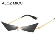 ALOZ MICC Fashion Women Rimless Cat eye Sunglasses Men Hot Trend Outdoors Sun glasses For UV400 Q695