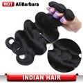 Alibarbara produtos para o cabelo Indiano Virgem Cabelo Bundles 3 pçs/lote Indiano Virgem Do Cabelo da Onda Do Corpo Não Transformados Cabelo Humano Tece