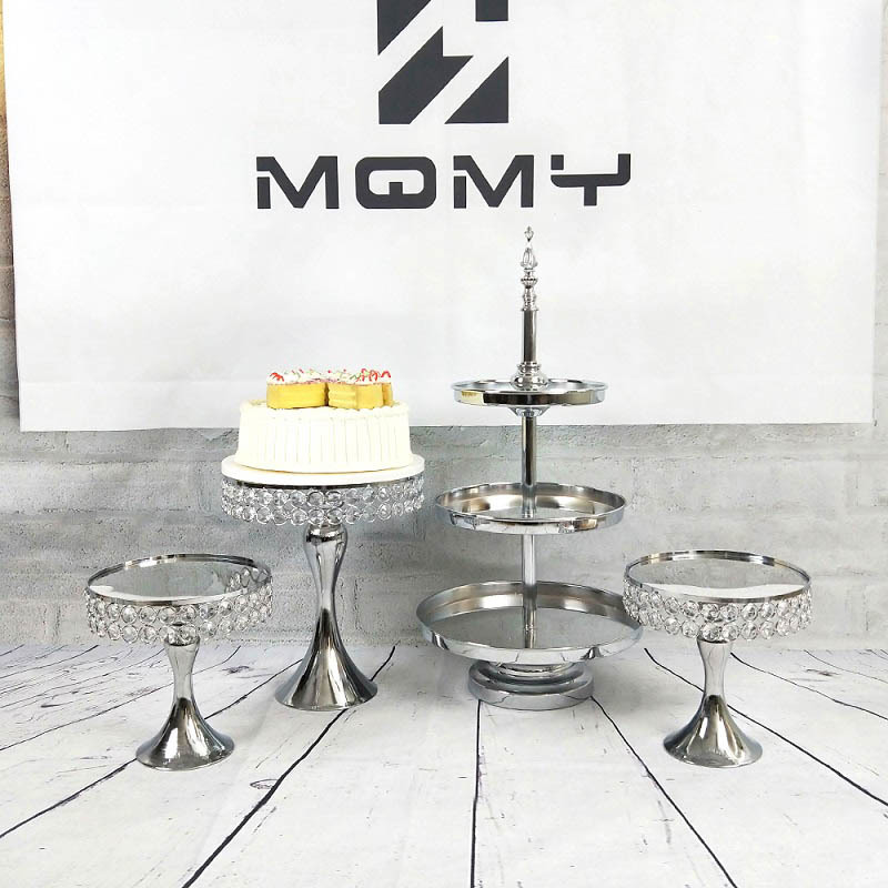 Silver Mirrored Cupcake Stand Pedestal Round Metal Dessert Wedding Party DisplaySilver Mirrored Cupcake Stand Pedestal Round Metal Dessert Wedding Party Display