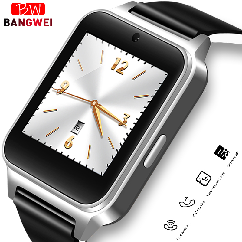 BANGWEI New Arrival Smart Watch Women with Camera Touch Screen Support SIM TF Card Bluetooth Smartwatch for Xiaomi Android Phone