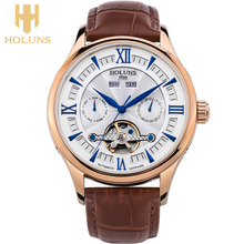 men s fashion brand hollow retro classic watches fashion crystal leather strap the warranty period of