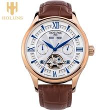 2016 Мужская мода бренд полые ретро классические часы, сапфировое стекло, кожаный ремешок, гарантийный срок два года