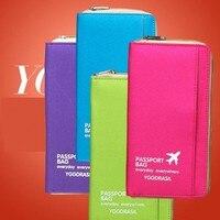 Quente multifuncional documentos de viagem contendo portátil carteira passaporte sacos de armazenamento pacote conjunto titular do passaporte organizar saco