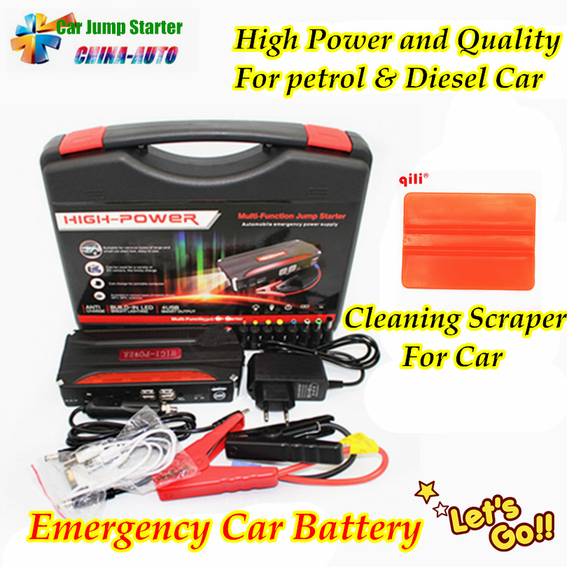 New Mini Portable Car Jump Starter Emergency Start 12V Petrol Diesel Engine Multi Function Power Bank