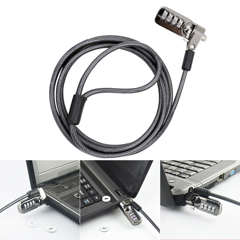 New Notebook Laptop Combination Lock Security Cable 4 Digit Password Protections Anti Theft Device EM88