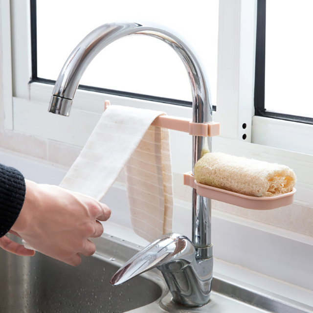 Tap Sink Drying Rack Kitchen accessories Organizer Gadget Sponge ...