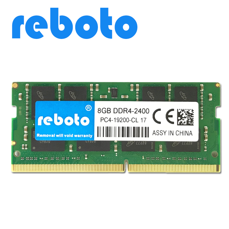 Reboto DDR4 8GB Laptop Memory RAM 2133mhz 2400mhz Memoria260 pin SODIMM RAM Stick for Notebook