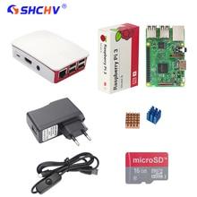 Raspberry Pi 3 Modelo B Starter Kit + 16G SD Card + Oficial ABS caso + Adaptador de Corriente 2.5A Interruptor + Cable USB + Heat Sink RPI 3